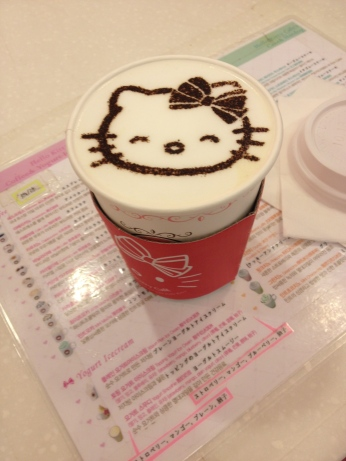 Flying home through Seoul meant a trip to the Hello Kitty Cafe (a new addition to the international terminal that I highly recommend). This is a sweet potato latte, and it's delicious!
