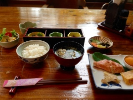 Japanese-style breakfast. Again, these are only a few of the dishes